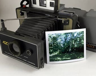 Polaroid Automatic 420 Land Camera, tested, working, new battery
