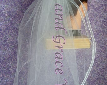 First Communion Veil (s) White on Comb/Barrette