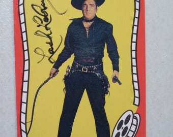 Vintage Riders of the Silver Screen Cowboy Lash LaRue Autographed Western Movie Trading Card, No. 164