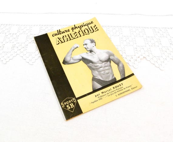 Rare Vintage 1945 French Body Building Book by Marcel Rouet, Retro Bodybuilding from France, 1940s Sport Manuel