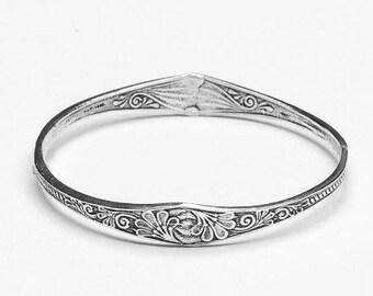 "Spoon Bangle Bracelet: ""Princess"" by Silver Spoon Jewelry"