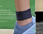 Activity/Step Tracker Nylon Velcro Ankle Band – Encompasses Original Straps and Exposes Sensors for Skin Contact (Extra Wide)