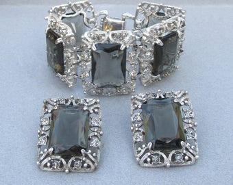 HUGE 1962 Vintage Sarah Coventry CELEBRITY Bracelet & Earrings Set