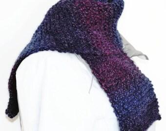 Winter scarf for women, scarf for men, fancy scarf, hand knit scarf, fashion scarf, garter stitch scarf, neck scarf, scarf UK, knitting gift