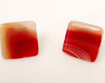Fused Glass Drawer And Cabinet Knobs, Set Of Two, Fused Glass Pulls, Drawer