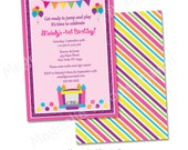 Bounce House Birthday Invitation, Jump Birthday Invitation, Bounce House Party Invite, Jump Birthday Invitation - Printable Digital File