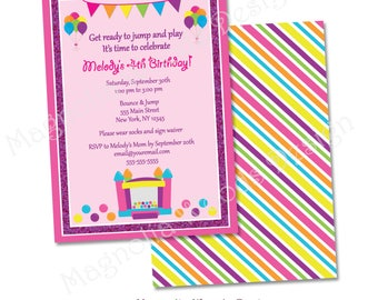 Bounce House Birthday Invitation, Jump Birthday Invitation, Bounce House Party Invite, Jump Birthday Invitation - Printable Digital File