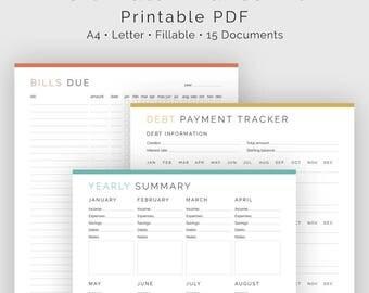 Ultimate Finance Kit (15 Documents) - Fillable - Printable PDF - Bundled Kit - Finance Planner - Home Management - Instant Download