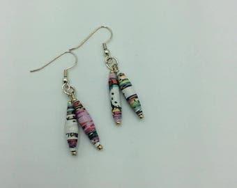 Hello Kitty Book Bead Earrings, Hello Kitty Earrings, Book earrings