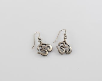 Sterling Silver OHM Earrings