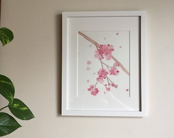 Cherry Blossom Bliss - Watercolor Painting