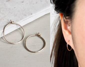 Simple Hoop Earrings, Hoop Earrings, Gold Hoop Earrings, Simple Hoop Earrings, Tiny Hoop Earrings