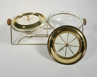 Vintage Mid Century Chaffing Dish / Warming Tray