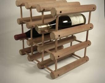 Vintage wood wine rack