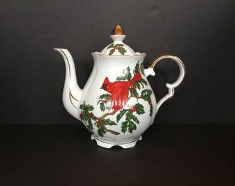 Lefton Cardinal Teapot