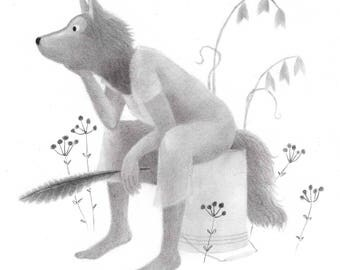 Wolf Woman - Original drawing
