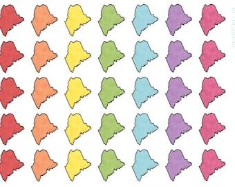 Maine Stickers || Planner Stickers