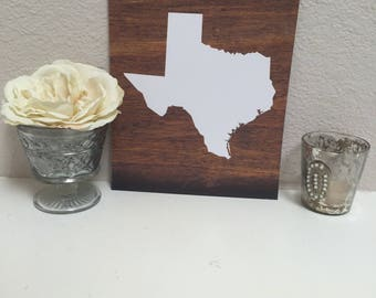 8x10-Ready to ship! Texas, Lone Star State, Tx, Gift for her, gift, Housewarming, wedding gift, gift for him, new home, dorm, apartment
