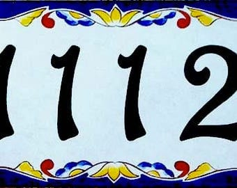 Victorian house numbers, porcelain door number, Italian and spanish house numbers, ceramic house numbers, housewarming gift, signs