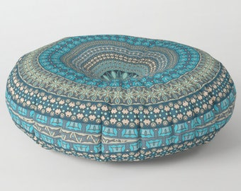 Mandala Floor Pillow, Mandala Cushion, Indian Cushions, Round Floor Cushions, Floor Pillow Cushion, Stuffed Pouf, Floor Pillow Seating