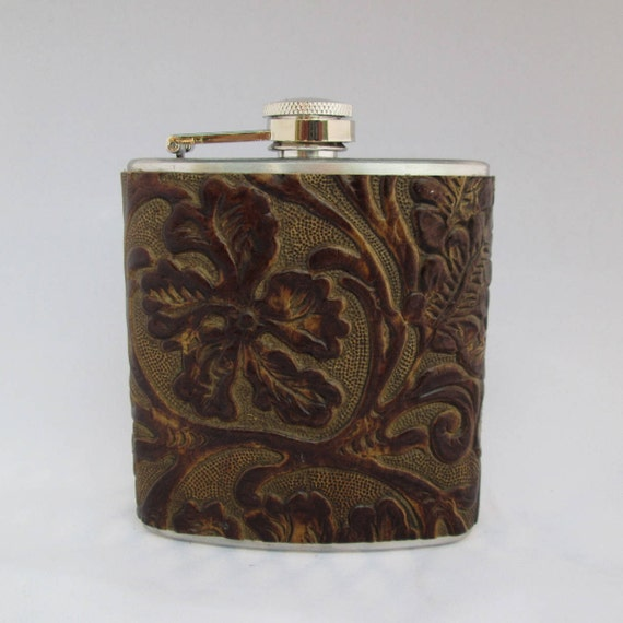 Every Day Flask Collection in Brown Floral