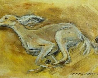 Saluki original painting