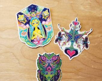 Butterfly Alien Angel Fairy Sticker Pack