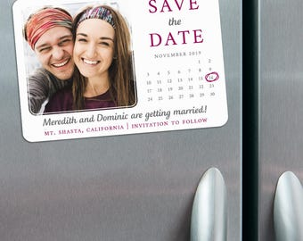 Calendar Couple - Save the Date Photo Magnets + Envelopes