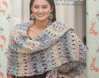 Shawls and Wraps Crochet Pattern Book, 6 Crochet Designs, Crochet Shawls, Crochet Wraps, Shell Shawl, Leisure Arts Pattern Book, Lacy Shawl