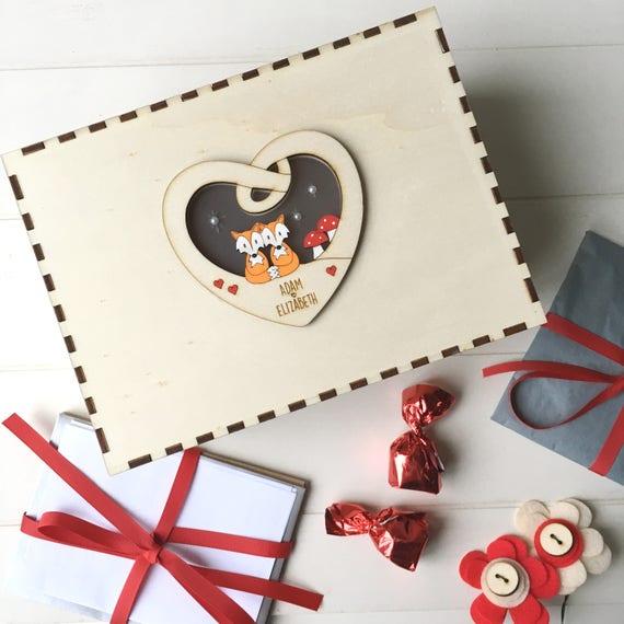 Couple's keepsake box - Valentine's box - Personalised keepsake box - Love box