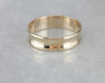 Cinched Concave Gold Wedding Band, Men's Wedding Ring XHTMDW-R