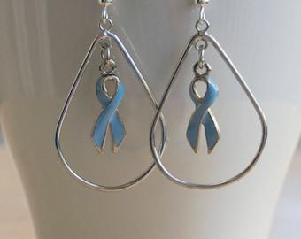 Prostate Cancer Awareness Hope Drop Earrings