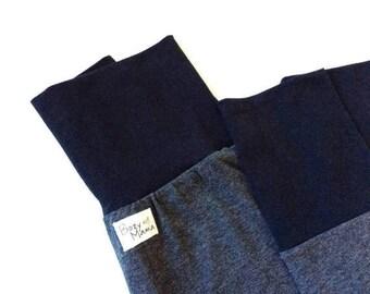 VENTE Sarouel ajusté rock pour enfant, pantalon évolutif taille 0-10 ans, gris et noir unisexe / Harem pants 0-10 years, black and charcoal