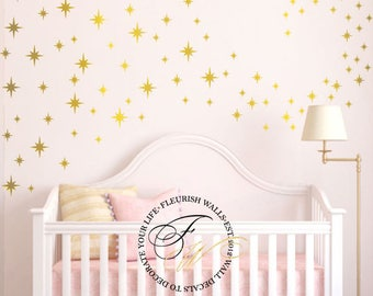 Star Wall Decals Etsy - Nursery wall decals ukbaby nursery wall decor uk baby room wall art uk grey and yellow