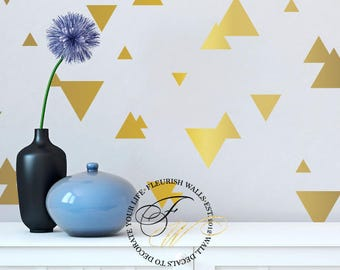 Triangle Wall Decals - Triangle Decals - Triangle Wall Stickers - Pattern Wall Decal - Playroom Wall Decal - Kids Room Decals DP017