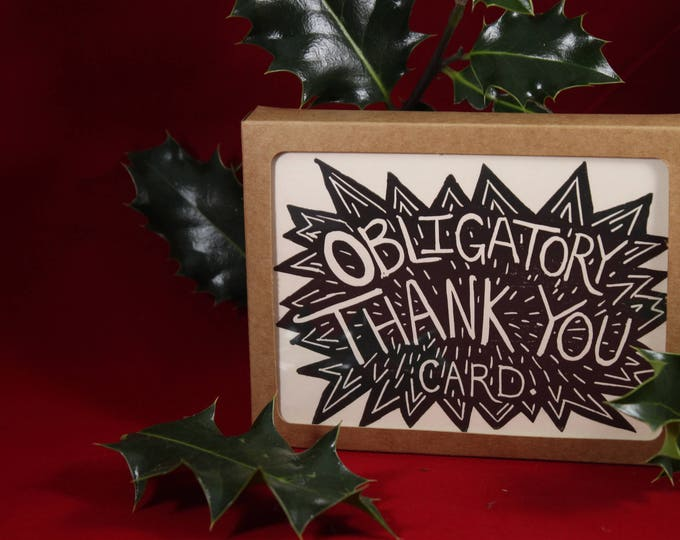 Obligatory Thank You Card