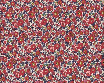 Red fabric Liberty of London Betsy Ann coupon