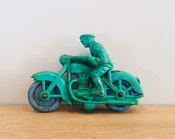 Vintage Auburn Rubber Small Motor Cop Motorcycle Toy