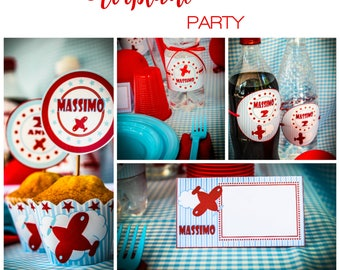 airplane vintage Printable Party