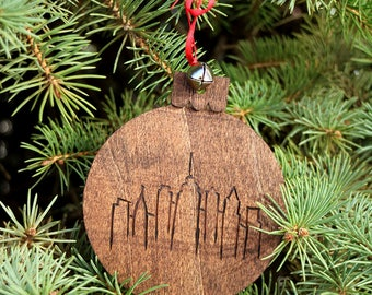 Philly Skyline Hand-Made Wood Ornament
