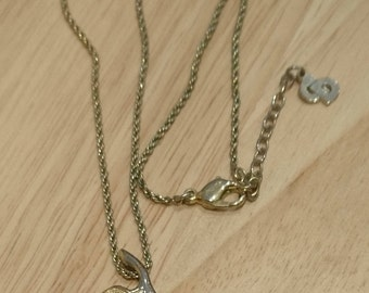 Vintage Chri.Dior Pearl drop pendant and chain