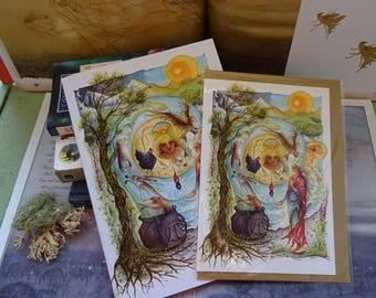 Cerridwen's Spell Journal and Card Set