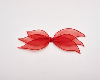 pinup style red bow hair clip vintage 1930s • Revival Vintage Boutique