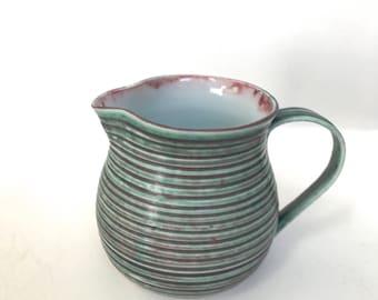 Earthy Multi-Colored Porcelain Creamer