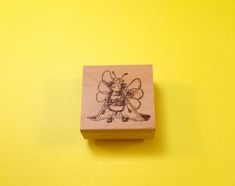 Queen BEE Wood Mount Rubber Stamp by PEDDLER'S PACK Stampworks 1995-1996