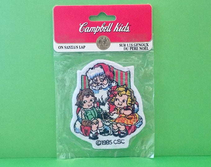 "Campbell Kids Christmas Patch ""On Santa's Lap"" (1995)"