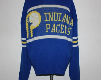 Vintage Indiana Pacers Cliff Engle NBA Sweater L