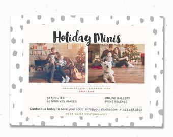 Holiday Mini Session Marketing Template, Marketing Board, Photography Marketing Template, Mini Session Flyer, Photography Marketing, m173