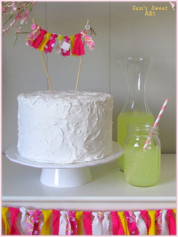 Lemonade Cake Topper Pink Lemonade Cake Topper Lemonade Party