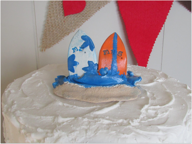 Surf Boards Wedding Cake Topper Mr Amp Mrs Cake Topper Beach